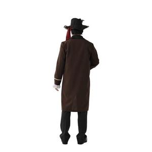 コスプレ衣装/コスチューム 【パイレーツ】 帽子 ベスト付きジャケット 腰紐付き ポリエステル 『MENコス』 〔イベント〕