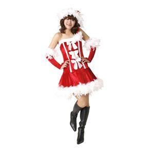 【新作!クリスマス☆コスチューム】フェザースリーリボンドレス