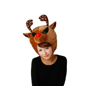 【2010年クリスマスサンタコスプレ】ROCKトナカイヘッド ブラウン