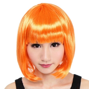 セレブパーティー ボブ(オレンジ) - 拡大画像