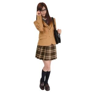 【コスプレ】 TeensEver(ティーンズエバー) コスプレ TE-11AW スカート ブラウン×レッド L 4560320837374