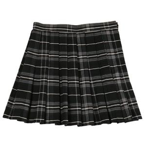 【Teens Ever】TE-11AW プリーツスカート ブラック×グレー M