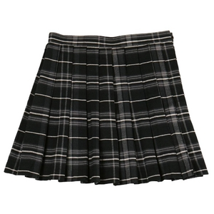 【Teens Ever】TE-11AW プリーツスカート ブラック×グレー L