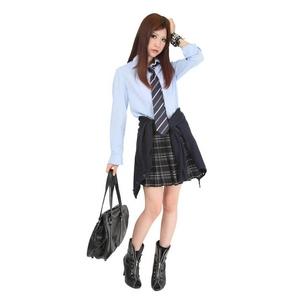 【コスプレ】 TeensEver(ティーンズエバー) コスプレ TE-11AW スカート ブラック×グレー L 4560320837398