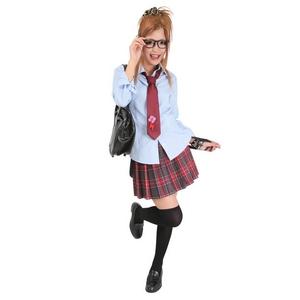 【コスプレ】 TeensEver(ティーンズエバー) コスプレ TE-11AW スカート レッド×チャコールグレー M 4560320837428