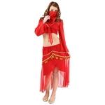 ギャル系コスプレ特集の中でヒラヒラ揺れるトップスとスカートが可愛い!真っ赤な太陽をイメ