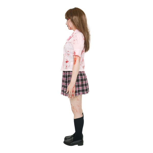制服 コスプレ 血のり付き スプラッターガール スクール(リボン)