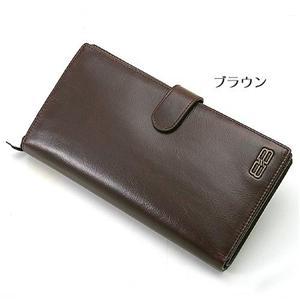 BALENCIAGA 二折り長財布 BANA03 ブラウン - 拡大画像