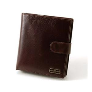 BALENCIAGA レザー2つ折りジップ財布 BANA04 ブラウン - 拡大画像