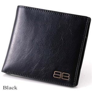 BALENCIAGA レザー2つ折り財布 BANA05 ブラック - 拡大画像