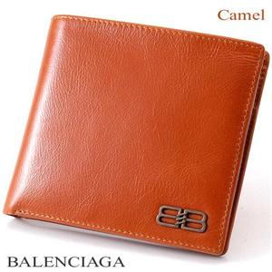 BALENCIAGA レザー2つ折り財布 BANA05 キャメル - 拡大画像