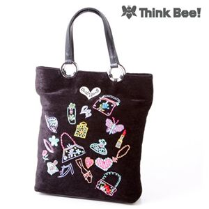 【Think Bee!】Just Heart ブラックポンド トートバッグ