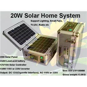 ソーラー式ポータブル発電機 PETC-FDXT‐20W 【アタッシュケース型太陽光発電器】