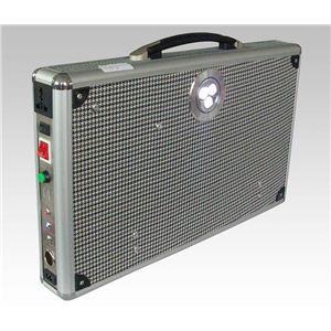ソーラー式ポータブル発電機 PETC-FDXT‐20W(薄型) 【アタッシュケース型太陽光発電器】