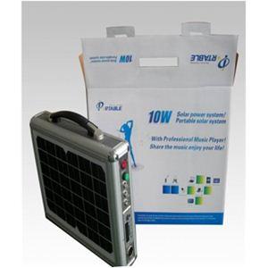 ソーラー式ポータブル発電機 PETC-FDXT‐10W 【アタッシュケース型太陽光発電器】
