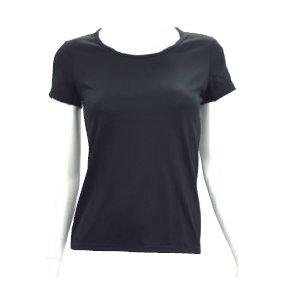 ナノミックス  「Uネック半袖Tシャツ(女性用)/LLサイズ」【ブラウン】【2枚セット】