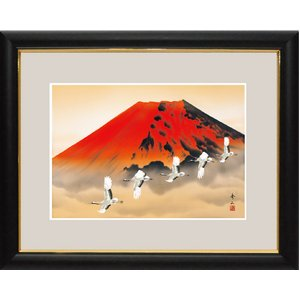 富士図額絵 『赤富士飛翔』 【中】 - 拡大画像