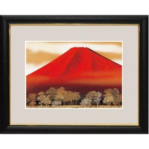 富士図額絵 『赤富士』 【中】 - 拡大画像