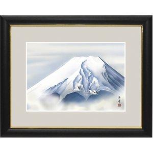 富士図額絵 額入り 『黎明富士』 【中】 - 拡大画像
