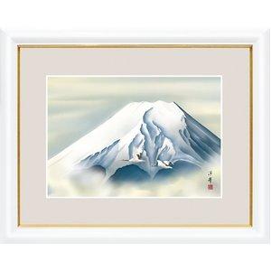 富士図額絵 白額入り 『黎明富士』 【中】 - 拡大画像