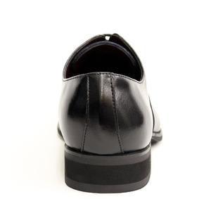 日本製 チゼルトゥ 本革ビジネスシューズ(撥水仕様)26cm【5572/ストレートチップ レースアップ バルモラル・黒】 h03