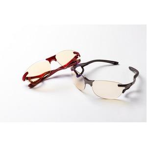 鼻でかけない薄い色のサングラス「エアサイト」レッド