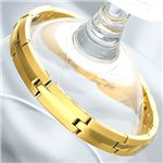 純金IP仕上げチタンゲルマブレス 男性用