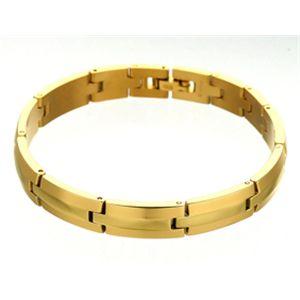 純金IP仕上げ チタンゲルマニウムブレス(ブレスレット)レディース