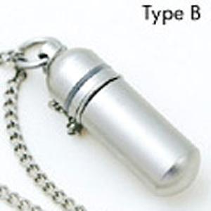 【送料無料】 純チタンピルケース TypeB(底の丸いタイプ)