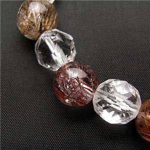 レッドルチル&スターカット水晶ブレス