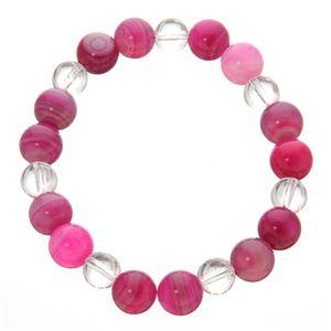 カラフルサードオニキスブレス ピンク