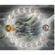 金銀ツインドラゴン水晶ブレスレット - 縮小画像1