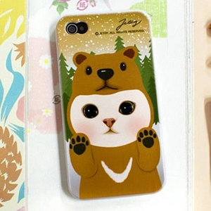 JETOY(ジェトイ) Choo choo iPhone4 ケース Ver.3 ブラウンベア - 拡大画像