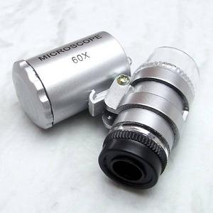 最大60倍 LED付きコンパクト顕微鏡 - 拡大画像
