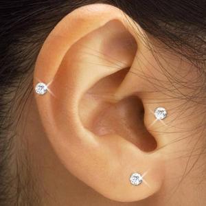 スワロフスキー耳ツボピアス(3色セット) - 拡大画像
