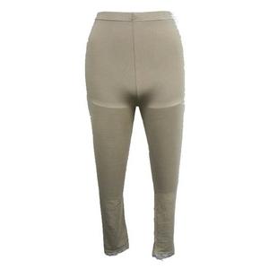 【しっとりインナー】裾レース付八分丈パンツ ベージュ Lサイズ 2枚セット - 拡大画像