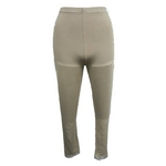 【しっとりインナー】裾レース付八分丈パンツ ベージュ Lサイズ 2枚セット