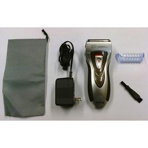 電気シェーバー/電気カミソリ 【シルバー】 充電式 水洗い可 ポップアップ式トリマー刃付き3枚刃 GDS-303