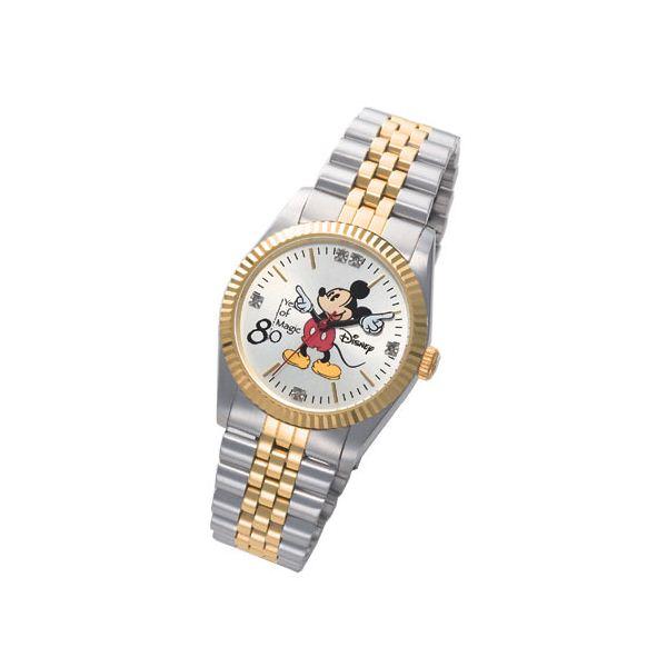 ミッキー生誕80周年記念ダイヤモンド腕時計 メンズf00