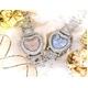 ハート型腕時計 デリシャスハートミッキー ブルー