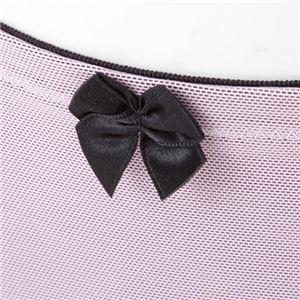 サイドベルト付サニタリーショーツ ピンク×ブラック L/92~100cm