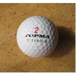 ゴルフボール トップマゴルフ チタニウムボール 1ダース(12個セット)