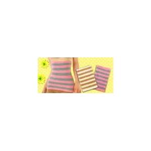 発熱モコモコシリーズ 3点セット(腹巻き/パンツ/レッグウォーマー) ピンク×グレー