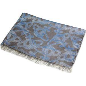 Vivienne Westwood(ヴィヴィアンウエストウッド) ストール F756 0001 ブルー×グレー - 拡大画像