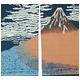 抜染和柄暖簾 赤富士 - 縮小画像2
