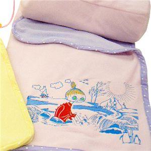 ムーミンのブランケット(収納袋つき) ミムラ・ピンク - 拡大画像