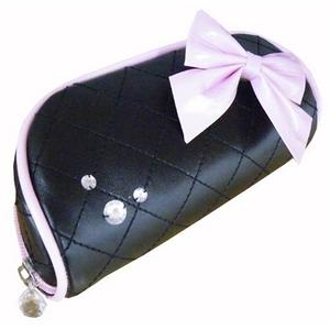メガネケース ブラック リボンシリーズ 【2個セット】