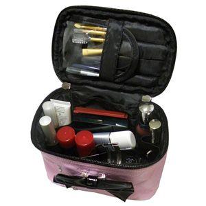 リボンシリーズ バニティケース ピンク