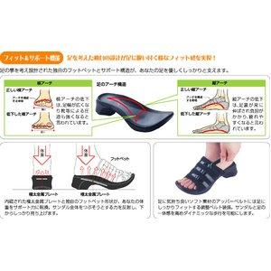 【足に優しいサンダル】アーチサポートサンダル バックベルト付き Lサイズ(24.5〜25.5cm )-3