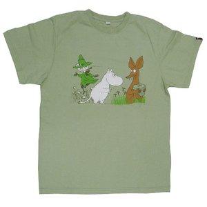 ムーミンTシャツ グリーンS - 拡大画像